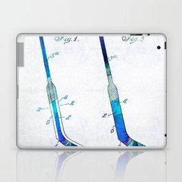Blue Hockey Stick Art Patent - Sharon Cummings Laptop & iPad Skin