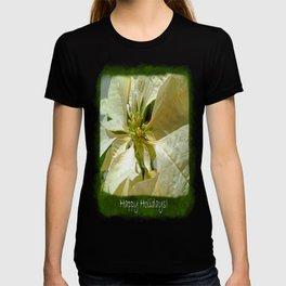 Pale Yellow Poinsettia 1 Happy Holidays P1F5 T-shirt