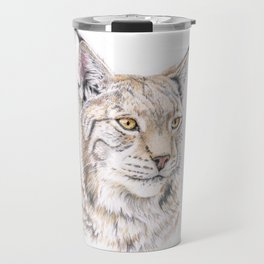 Lynx - Colored Pencil Travel Mug