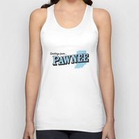 parks and recreation Tank Tops featuring Parks and Recreation - Greetings from Pawnee by ernieandbert