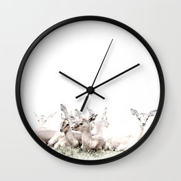 africa is a feeling - young antelope Wall Clock