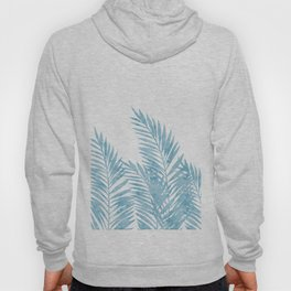 Palm Leaves Light Blue Hoody