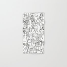 Russian cathedral church line drawing Hand & Bath Towel
