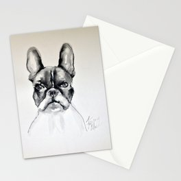 Portrait of a French Bulldog Stationery Cards