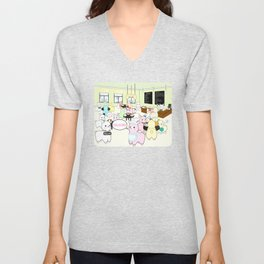 Alpaca Dreams Café  Unisex V-Neck