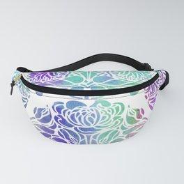 Art Nouveau Style Floral Fanny Pack