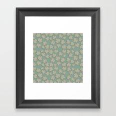 Vintage Leaves Framed Art Print