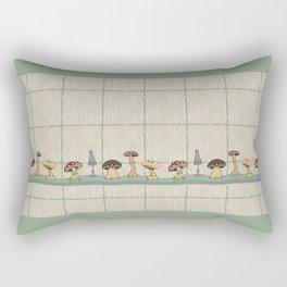 Gentle Mushrooms Rectangular Pillow