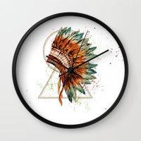 ethnic Wall Clocks featuring ethnic by limonlukusburnu