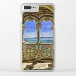 An archway, the Torre de Belem, Lisbon, Portugal Clear iPhone Case