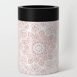 Mandala Yoga Love, Blush Pink Floral Can Cooler