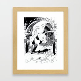 Alice in Wonderland - Key Room Framed Art Print