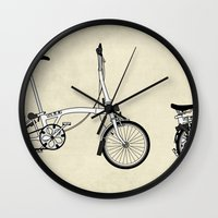 brompton Wall Clocks featuring Brompton Bicycle by Wyatt Design