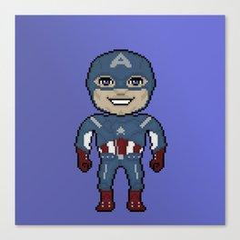 Pixelated Heroes Capt. America Super Hero Canvas Print