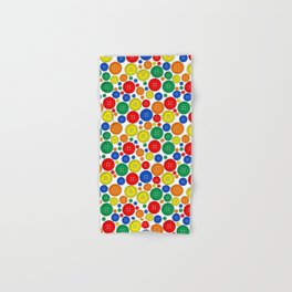 colorful scattered buttons Hand & Bath Towel