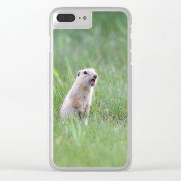 Prairie Dog Calls Clear iPhone Case