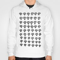 diamonds Hoodies featuring Diamonds by Geryes
