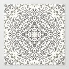 Drawing Floral Doodle G2 Canvas Print