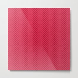 Amaranth Red Scales Pattern Metal Print