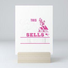 Womens This Girl Sells Real Estate Design - Female Realtor Gift Tee V-Neck T-Shirt Mini Art Print