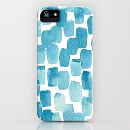 Blue Watercolour iPhone Case