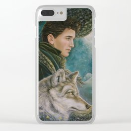 Fantasy Wolf Art Clear iPhone Case