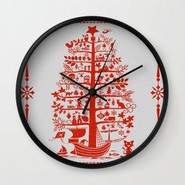 Christmas Tree Ship Wall Clock
