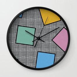 Memphis Squares Wall Clock