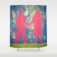 couple Shower Curtains featuring Couple by Griffin Lauerman