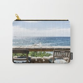 Sunny seaview photo from restaurant in Curacao Carry-All Pouch