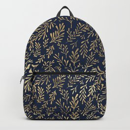Elegant Gold Leaves Background Backpack