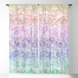 Crystal Gemstone Background Pattern - Geodes + Quartz Points Sheer Curtain
