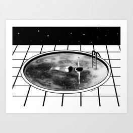 Pool Moon Art Print