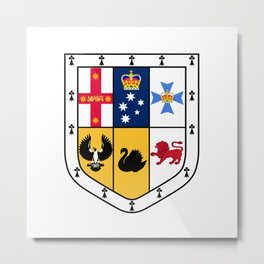 Australian Coat Of Arms Metal Print