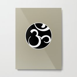 Stylized OM Syllable Mandala Metal Print