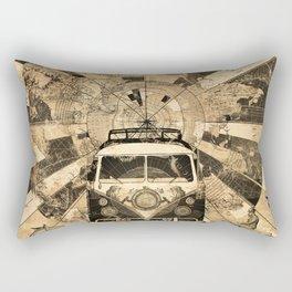 vintage voyager world map design 7 Rectangular Pillow