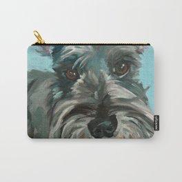 Schnauzer Dog Portrait Carry-All Pouch