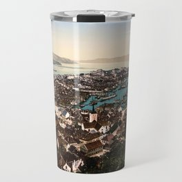 A panoramic view of the city of Bergen in Hordaland, Norway Travel Mug