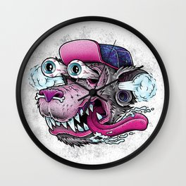 Wolf Dude Wall Clock