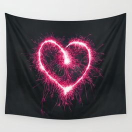 Firework Heart (Color) Wall Tapestry