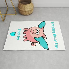 pigs wiill fly Rug