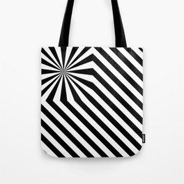 Stripes explosion - Black Tote Bag