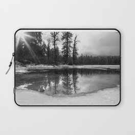 Sun Rays on a Melting Lake Laptop Sleeve
