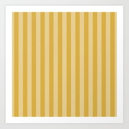 Large Two Tone Spicy Mustard Yellow Cabana Tent Stripe Art Print