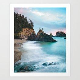 Secret Beach Sunset Art Print