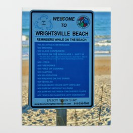 Beach Rules Poster