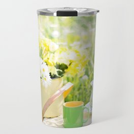 Romantic Daisy Flower Bouquet Travel Mug