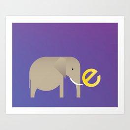 E for Elephant Art Print