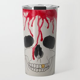 Blood Soaked Skull Travel Mug