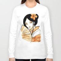 geisha Long Sleeve T-shirts featuring Geisha by KuroCyou